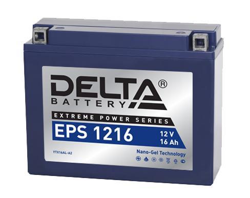 Мото-аккумулятор Delta EPS 1216 YTX16AL-A2