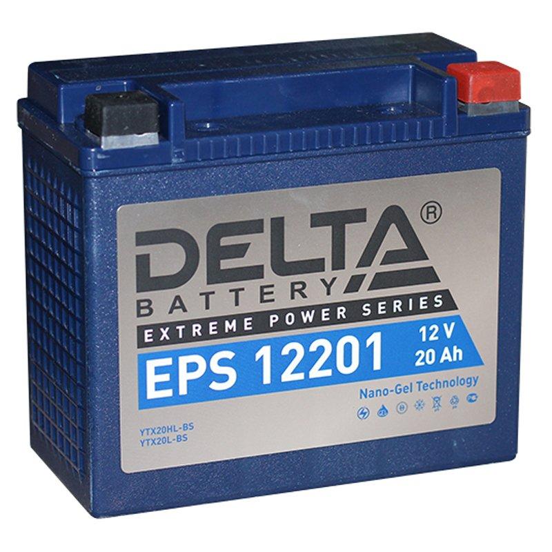 Мото-аккумулятор Delta EPS 12201 YTX20HL-BS, YTX20L-BS