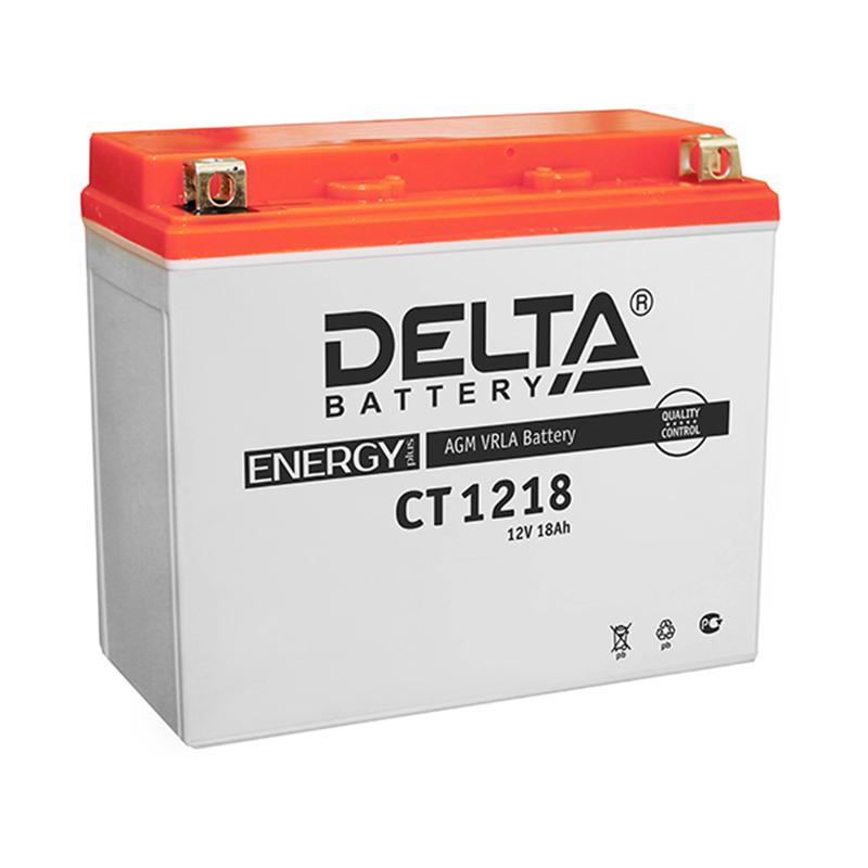 Мото-аккумулятор Delta CT 1218 YTX20-BS, YTX20H, YB16-B-CX, YB16-B, YB18-A