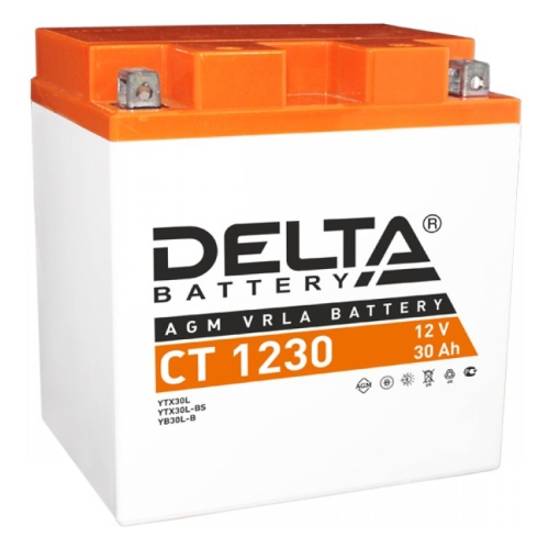 Мото-аккумулятор Delta CT 1230 YTX30L, YТX30L-BS, YB30L-B