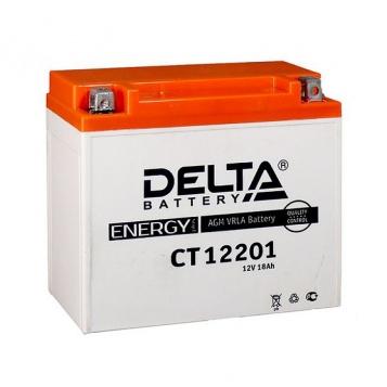 Мото-аккумулятор Delta CT 12201 YTX20L-BS, YTX20HL-BS, YB16L-B, YB18L-A
