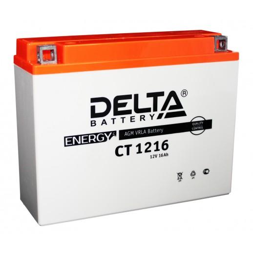 Мото-аккумулятор Delta CT 1216 YB16AL-A2