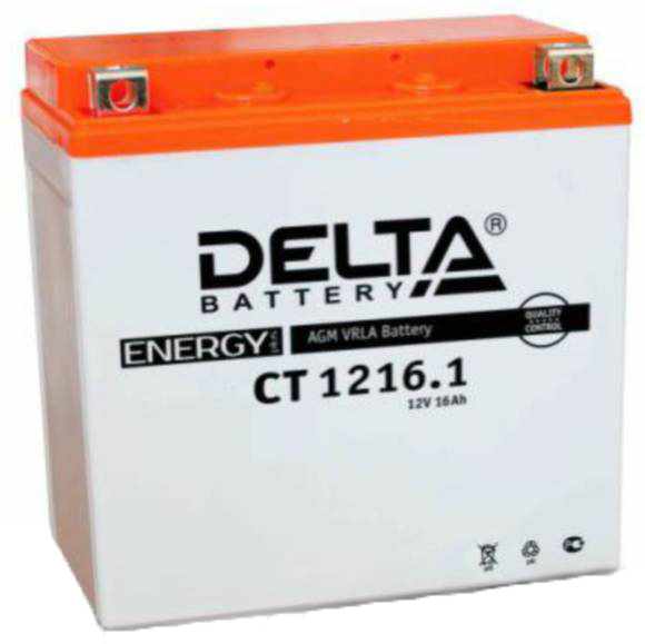Мото-аккумулятор Delta CT 1216.1  YTX16-BS, YB16B-A