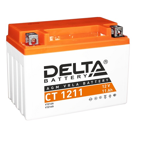 Мото-аккумулятор Delta CT 1211 YTZ12S, YTZ14S