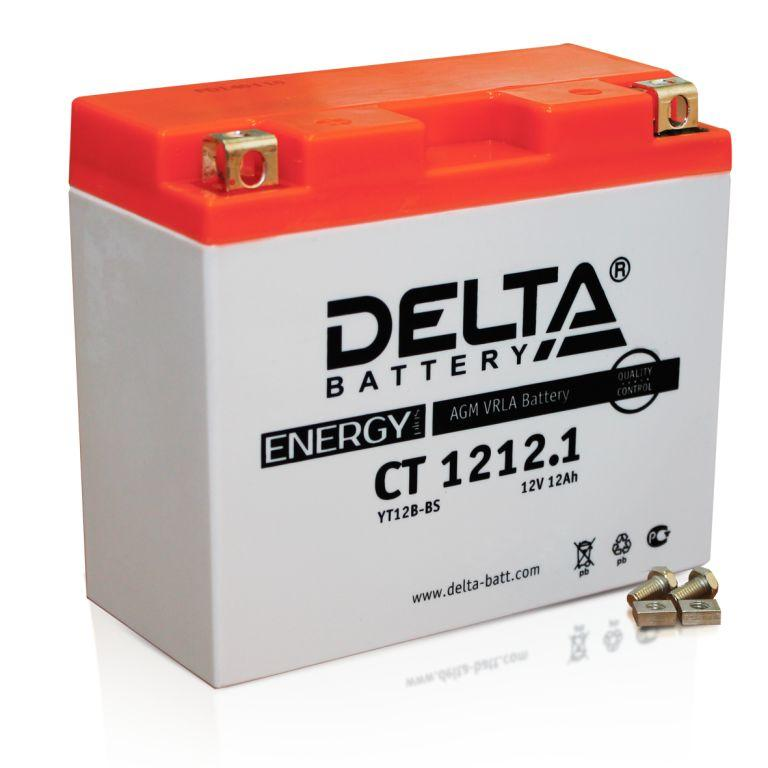 Мото-аккумулятор Delta CT 1212.1 YT12B-BS