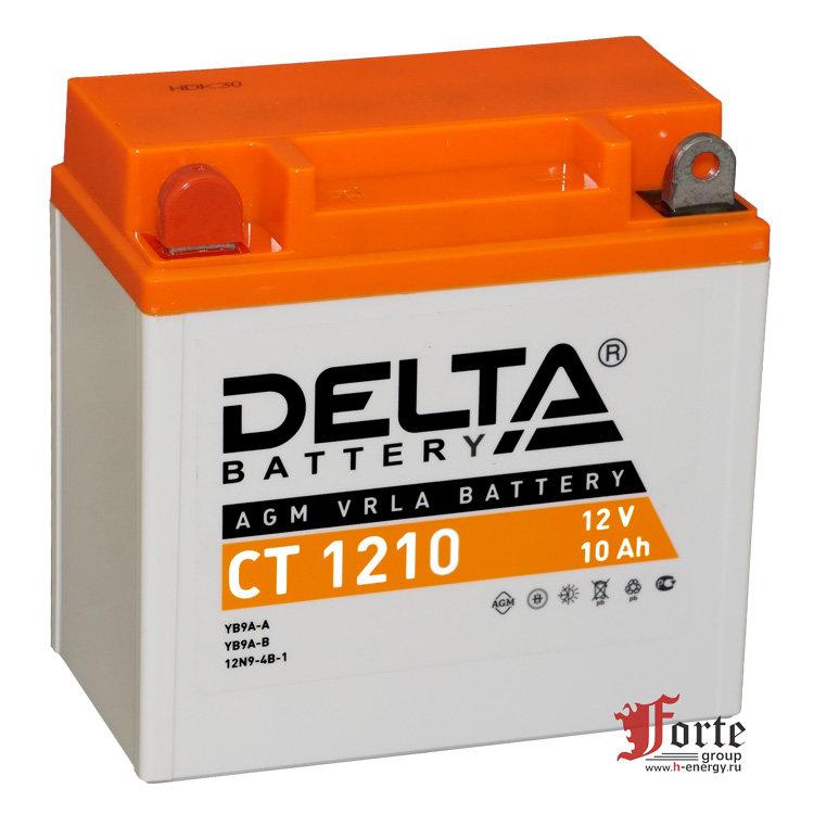 Мото-аккумулятор Delta CT 1210 YB9A-A, 12N9-4B-1, YB9-B