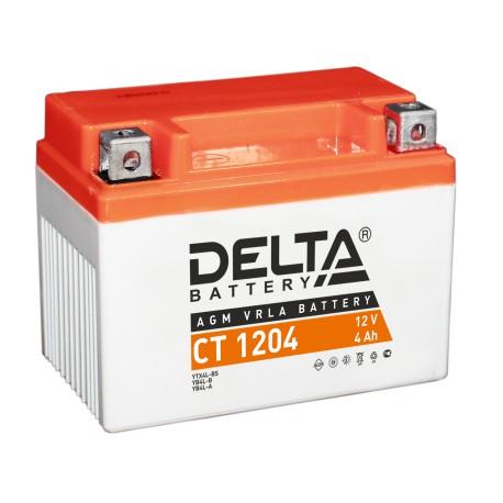 Мото-аккумулятор Delta CT 1204 YB4L-B, YB4L-A, YTX4L-BS