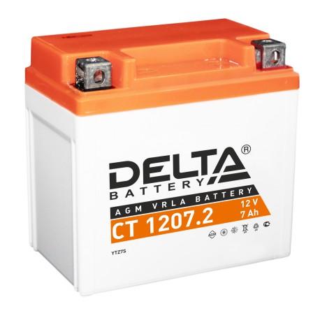 Мото-аккумулятор Delta CT 1207.2 YTZ7S