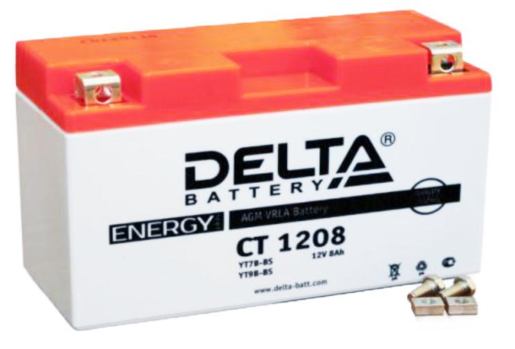 Мото-аккумулятор Delta CT 1208 YT7B-BS, YT7B-4, YT9B-BS