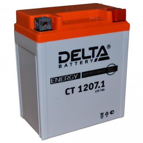 Мото-аккумулятор Delta CT 1207.1 YTX7L-BS
