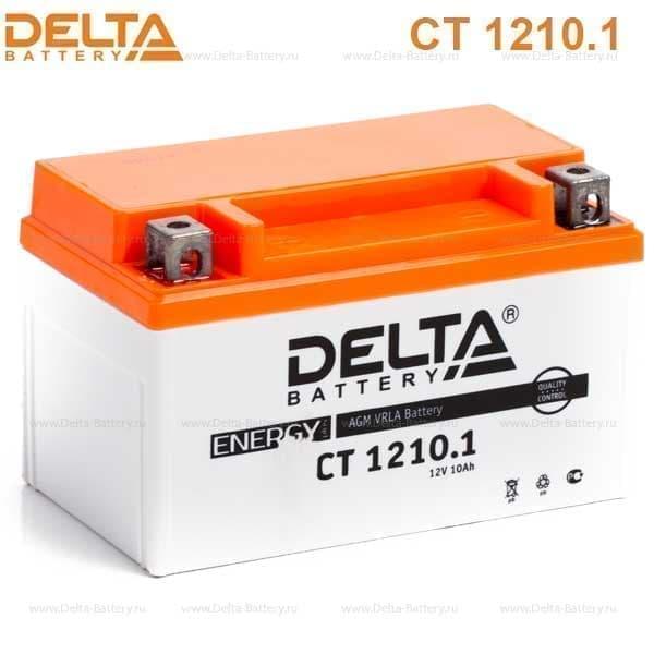 Мото-аккумулятор Delta CT 1210.1 YTZ10S