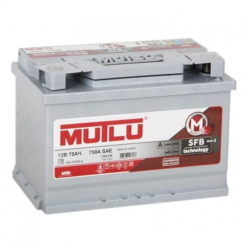 Аккумулятор Mutlu-75, Прямая полярность