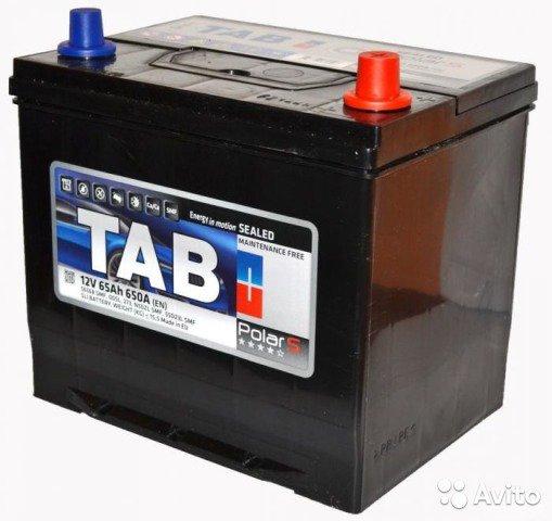 Аккумулятор TAB Polar-65, Обратная полярность