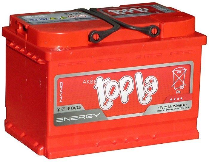 Аккумулятор TOPLA ENERGY-75, Прямая полярность