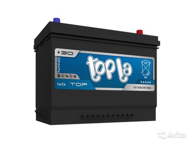 Аккумулятор TOPLA TOP-70, Обратная полярность