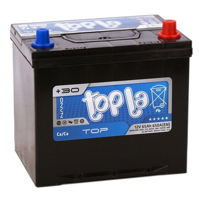 Аккумулятор TOPLA TOP-65, Обратная полярность