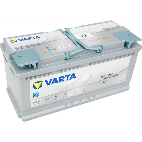 Аккумулятор VARTA AGM SILVER DYNAMIC-105, Обратная полярность