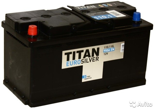 Аккумулятор TITAN-110, Прямая полярность