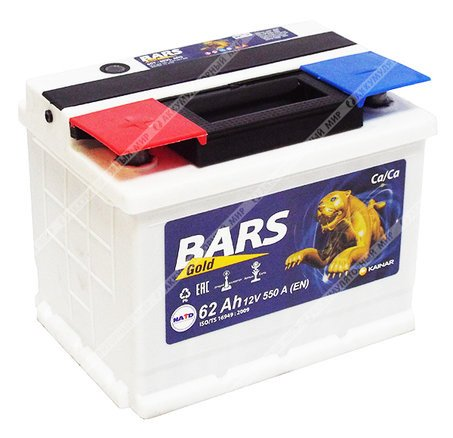 Аккумулятор BARS-62, Прямая полярность