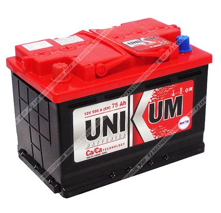 Аккумулятор UNIKUM-75, Прямая полярность