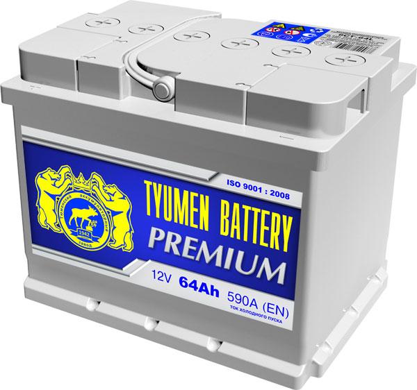 Аккумулятор TYMEN BATTERY PREMIUM-64, Прямая полярность