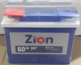 Аккумулятор ZION-60, Прямая полярность