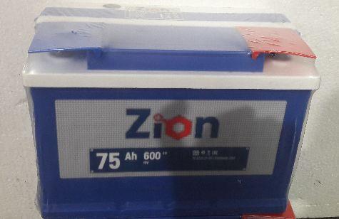 Аккумулятор ZION-75, Прямая полярность