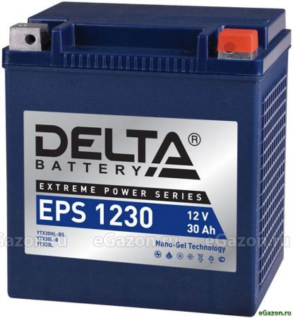 Мото-аккумулятор Delta EPS 1230 YTX30HL-BS, YTX30L-B, YTX30L