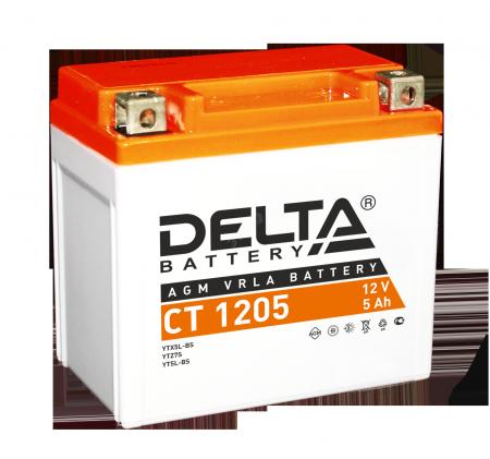 Мото-аккумулятор Delta CT 1205 YTX5L-BS, YT5L-BS, YTZ7S