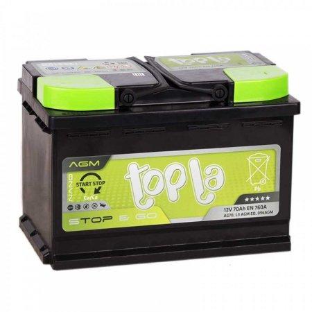 Аккумулятор TOPLA AGM-70, Обратная полярность