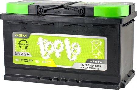 Аккумулятор TOPLA AGM-80, Обратная полярность